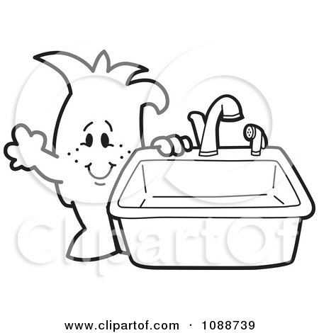 Royalty-Free (RF) Kitchen Sink Clipart, Illustrations