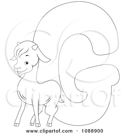 Royalty-Free (RF) Clipart Illustration of a Cute Baby Goat