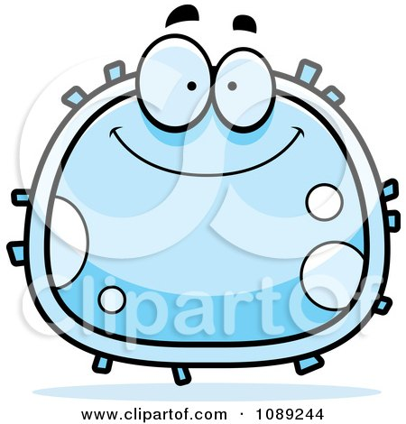 Clipart Grinning White Blood Cell Royalty Free Vector