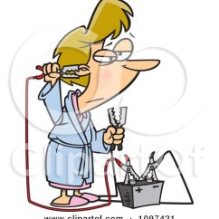 Walker Roller Chair Red Counter Height Chairs Woman Wearing Herself Out While Doing Spring Cleaning Clipart Illustration By Ron Leishman #5794
