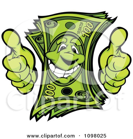 clipart happy cash money pile