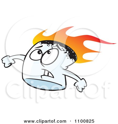 stressed flaming marshmallow posters