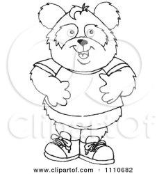 panda boy standing clipart illustration royalty vector holmes dennis designs