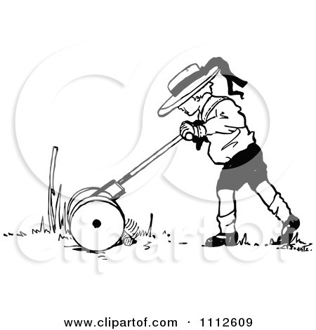 Cartoon Man Using A Leaf Blower Posters, Art Prints by