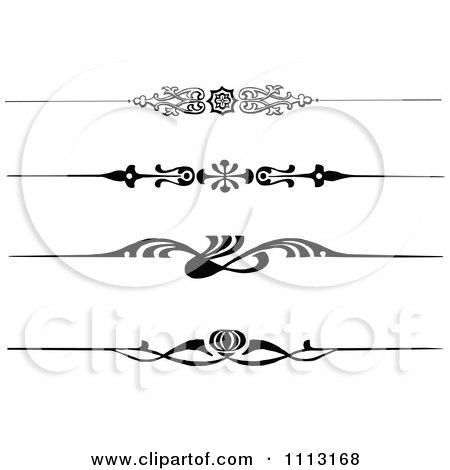 Clipart Vintage Black And White Decorative Art Deco