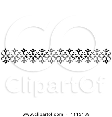 Clipart Vintage Black And White Decorative Border Design