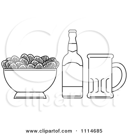 free coloring book picture of bottle