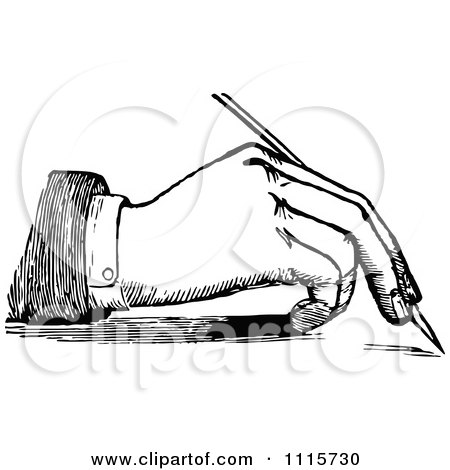 Clipart 3d White Businessman Writing With A Green Pencil
