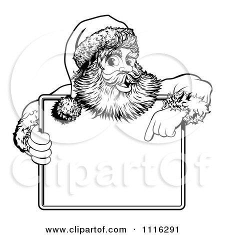 Kneeling Santa Page Coloring Pages