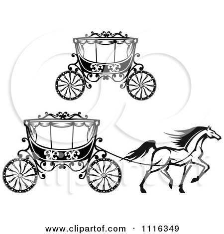 Clipart Black And White Fairy Tale Romantic Wedding