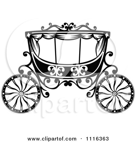 Clipart Black And White Horse And Romantic Wedding