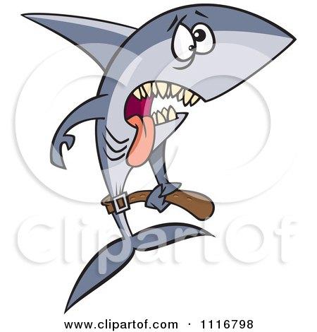Royalty Free RF Clip Art Illustration Of A Cartoon Shark