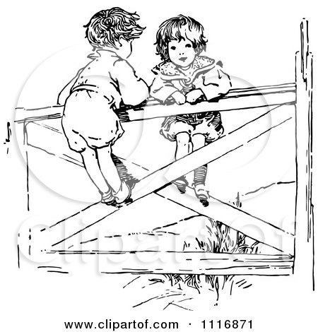 Royalty Free Fence Illustrations by Prawny Vintage Page 1