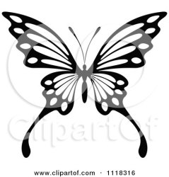 butterfly clipart tattoo drawing illustration designs clip unique vector pattern royalty butterflies tradition sm graphics drawings clipartof seamartini purple tattoos