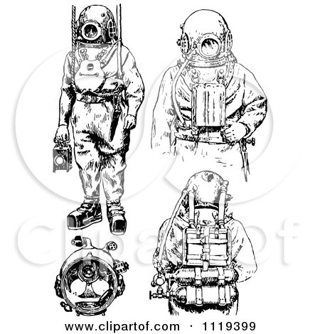 Scuba Mask Drawing Sketch Coloring Page
