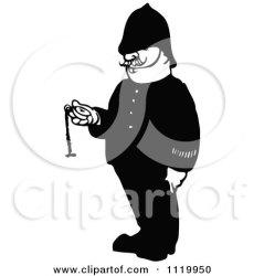 pocket clipart illustration retro police holding royalty vector prawny pendulum bow