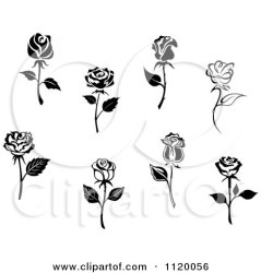 rose roses tattoo tattoos clipart tiny single drawing flowers vector illustration clip flower mini royalty simple seamartini miniature wrist tradition