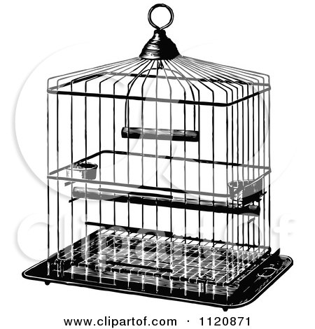 Royalty-Free (RF) Bird Cage Clipart, Illustrations, Vector