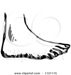foot clipart clip retro body parts illustration human vector royalty prawny posters prints print cliparts clipartof poster