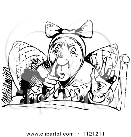 Clipart Of Retro Vintage Black And White People Visiting A