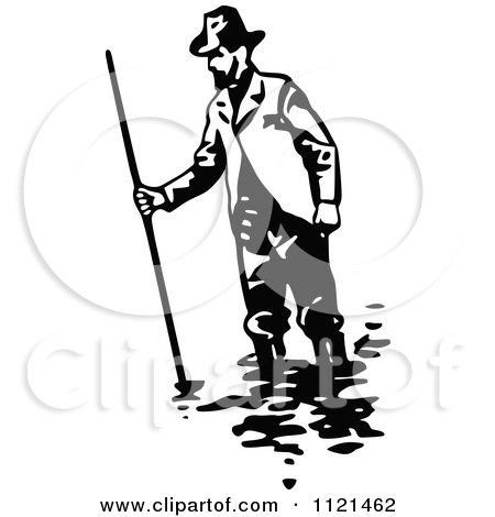 Royalty-Free (RF) Clipart Illustration of Three 3d Mining