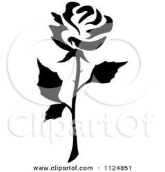 rose clipart flower vector royalty illustration graphics single seamartini tradition sm rf illustrations