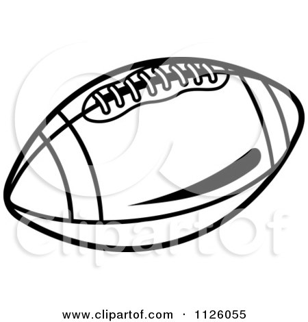 Royalty-Free (RF) Black And White Football Clipart
