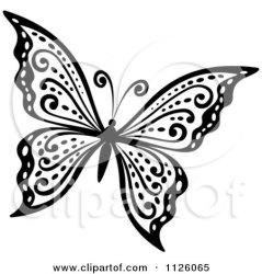 butterfly clipart vector illustration royalty stencil drawing clip illustrations butterflies designs graphics tradition sm drawings colouring clipartof coloring wings tattoo