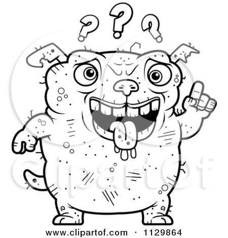 Royalty-Free (RF) Stupid Dog Clipart, Illustrations