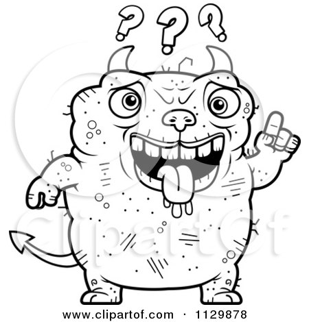 Royalty-Free (RF) Clipart Illustration of a Confused Blond