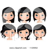 royalty-free rf black hair clipart
