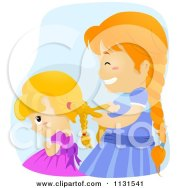 royalty-free rf fixing hair clipart