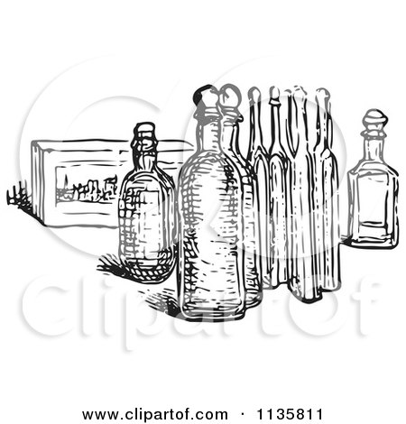 Royalty-Free (RF) Clipart of Bottles, Illustrations