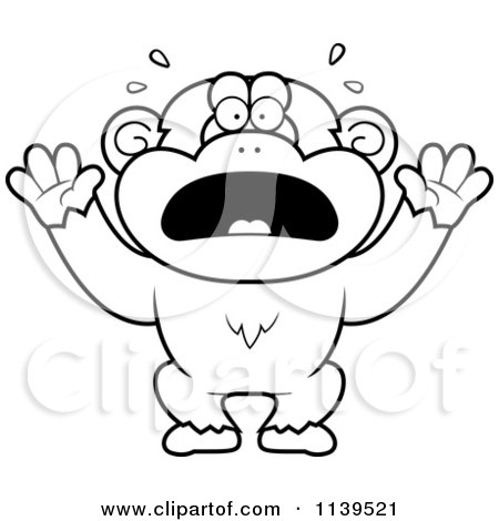 Cartoon Clipart Of A Black And White Dumb Or Drunk