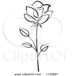 rose flower clipart illustration tattoo vector roses royalty tattoos seamartini tiny tradition sm simple graphics drawing print printable flowers outline