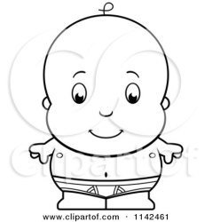 baby boy clipart cute tighty whities diaper cloth cartoon clip vector cory thoman underwear illustrations royalty coloring graphics rf clipartof