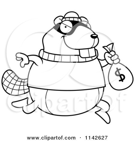 Royalty-Free (RF) Stealing Money Clipart, Illustrations