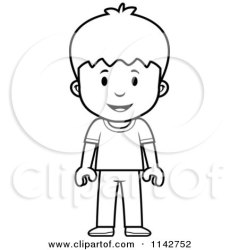 boy clipart standing sad cartoon expression mad coloring boys thoman cory vector outlined children angry royalty kid worried woman facial