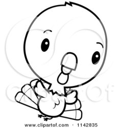 turkey cute baby bird flying cartoon clipart coloring vector thanksgiving outlined cory thoman happy background pattern doing dance royalty clipartof