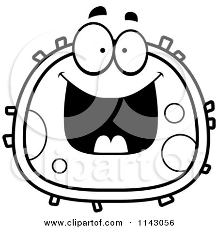 Clipart Smiling Red Blood Cell- Royalty Free Vector