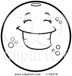 orange happy cartoon clipart character navel coloring vector thoman cory outlined sick without collc0121 royalty