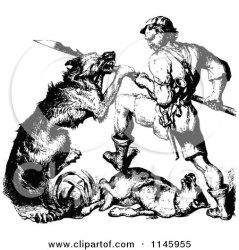 fighting warrior dog clipart illustration vector retro warriors royalty illustrations prawny regarding notes
