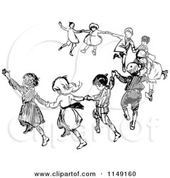 dancing children retro clipart vector royalty prawny copyright protected collc0178