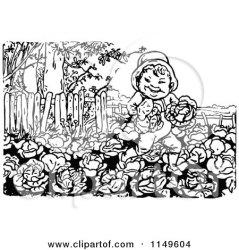clipart cabbage patch garden running boy illustration retro vector royalty prawny