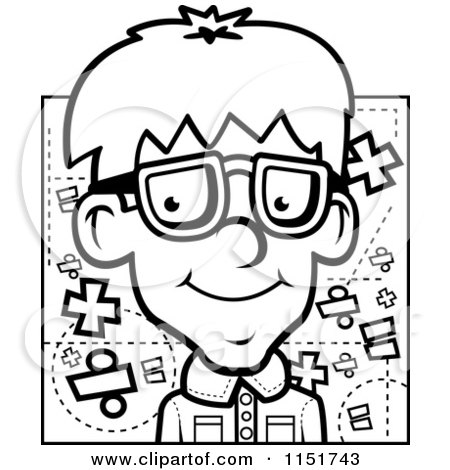 Royalty-Free (RF) Math Nerd Clipart, Illustrations, Vector