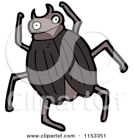 cartoon of beetle - royalty free