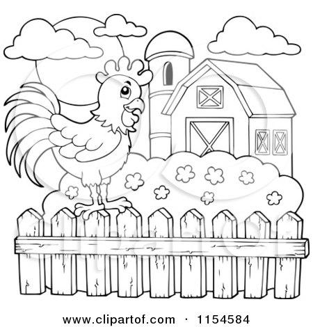 Farm Fence Clipart Black And Whiteghantapic