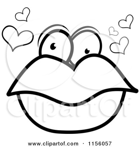 Royalty-Free (RF) Clipart of Pair Of Lips, Illustrations