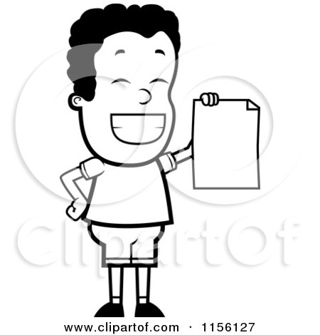 Clipart Smart School Boy Sitting At A Desk With An A Plus