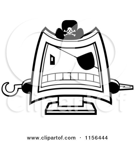 Royalty-Free (RF) Computer Pirate Clipart, Illustrations